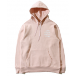 Anti Social Social Club Plain Hooded Sweater (Pink)