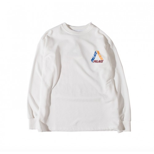 Palace Tricolor Logo Sweater (White)
