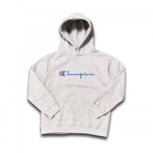 Champion Logo Classic Pullover Hoodie (Gray)