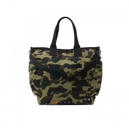 A Bathing Ape Porter Bags 1st Camo Military Tote Bag (Green)