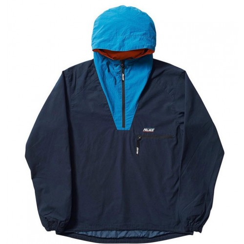 Palace Outer Shell Smock Jacket (Navy/Turquoise)