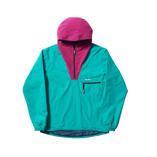 Palace Outer Shell Smock Jacket (Teal/Raspberry)