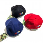 A Bathing Ape BAPE WGM Shark Fitted Hat (Red)