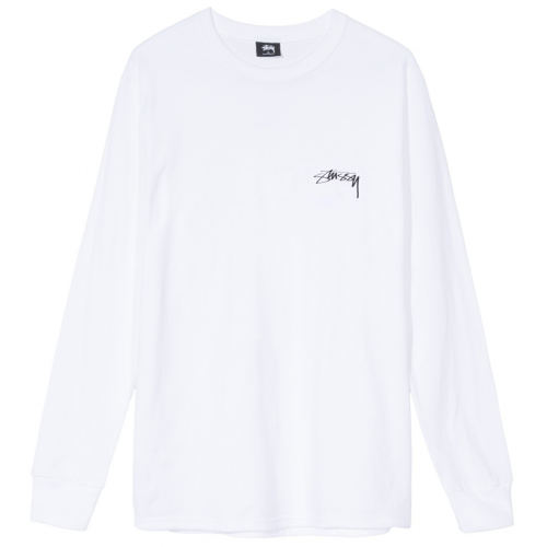 Stussy 19SS Post Modern Roots Tee Long Sleeve Shirt (White)