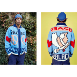 Palace Peace Out Bird Knit Sweater (Blue)