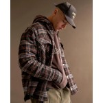 Represent Quilted Hooded Flannel Jacket (Brown)