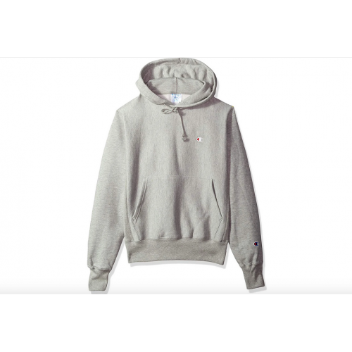 Champion Small Logo Pullover Hoodie (Gray)