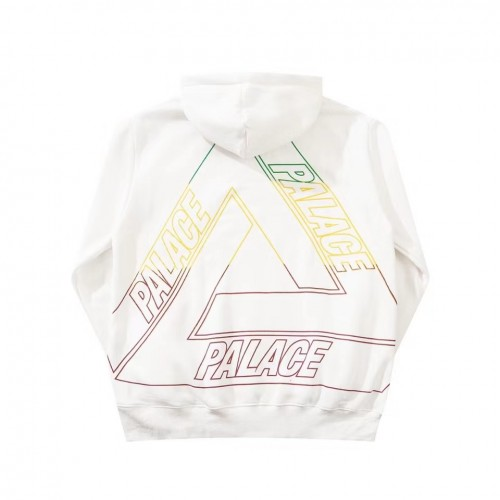 Palace Triangle Multicolor Logo Hoodie (White)