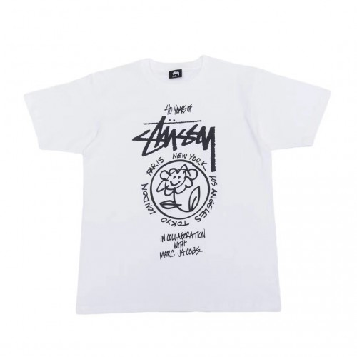 Stussy 40 Years Marc Jacobs T-Shirt (White)